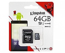 Kingston 64GB Class 10 Memory Card with Adapter (High Speed of 80 Mb/s)