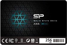 "Silicon Power 256GB SSD 3D NAND A55 SLC Cache Performance Boost SATA III 2.5"" 7mm (0.28"") Internal S"