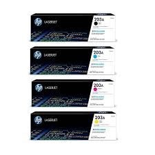 Genuine 4 Colour HP 203A Toner Cartridge Multipack - (CF540A/CF541A/CF542A/CF543A)
