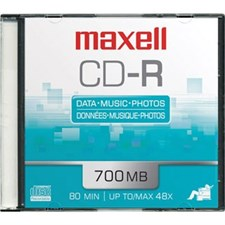 Maxell CD-R - CD-R x 10 - 650 MB - 10pcs Boc